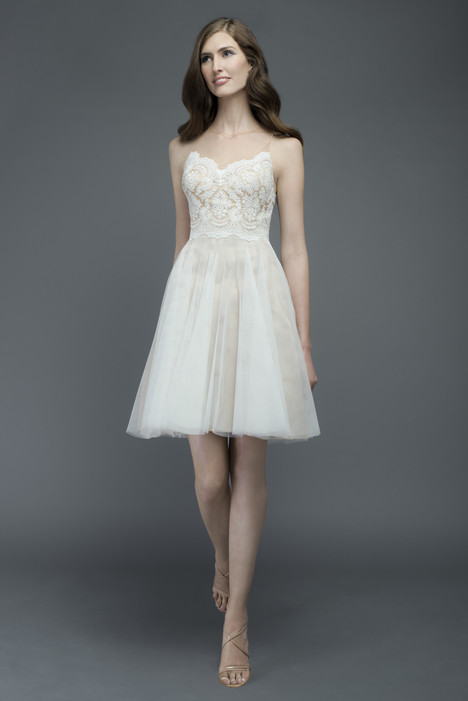 Cocktail length wedding dress. Style Messina by Watters Encore.