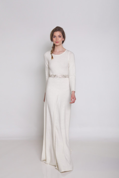 Wedding dress with full-length sleeves. Style Ill be There by Ivy and Aster.