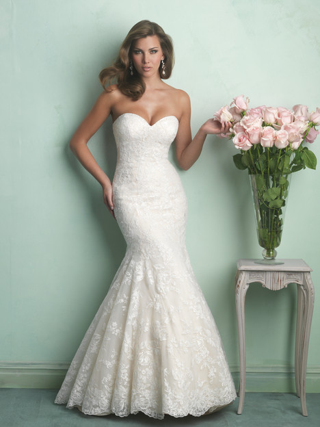 Strapless wedding dress. Style 9169 by Allure Bridals.