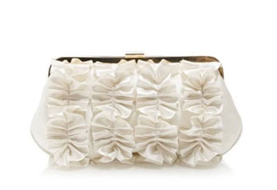 Ruffled clutch by JCrew