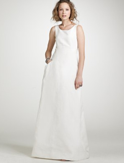 2011 trends wedding dresses with pockets for Simple cotton wedding dress