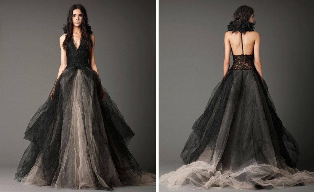 brideca vera wang fall 2012 the black magic collection With black vera wang wedding dress