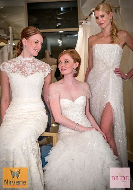 Reem Acra 2013 wedding dresses at the new shop-in-shop at Blush Bridal in west vancouver