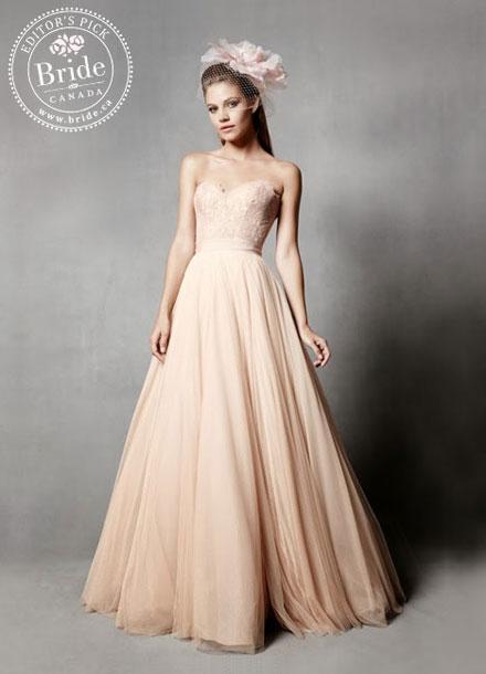 Watters Carina + Ahsan Fall 2014 wedding dress corset and skirt