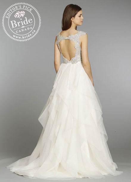 Hayley Paige : Carrie Spring 2014 wedding dress : back view