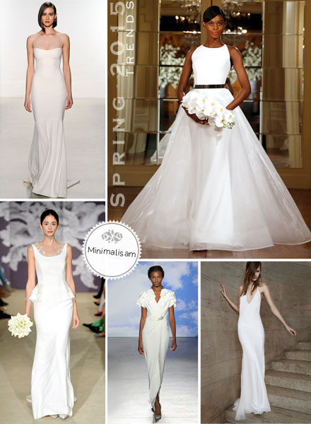 Bridal Fashion Trends 2015: Minimalism, Architectural, Stark