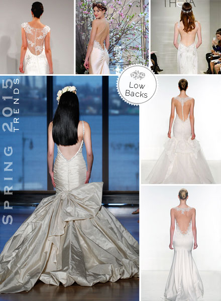 Low open backs, Illusion, Sheer for 2015 trends Bridal Gown