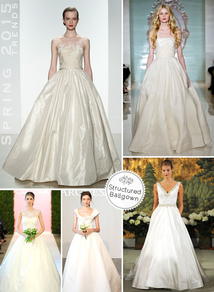 Spring 2015, Trends, Structured, Ballgowns, Ball Gown, Grand, Dramatic, Wedding Dress, Bridal Gown