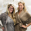 Lara Taylor (right) of Coco Events and Weddings, with Katie Elwood, of Katie Elwood Makeup Artistry. Photo by