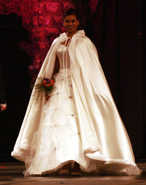 Floor-length Bridal Cape