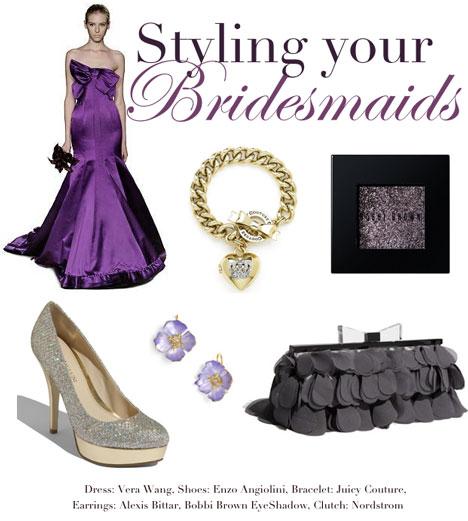 Purple bridesmaids fashion trends