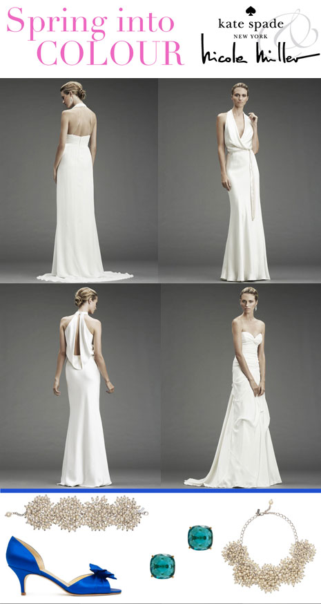 Style Board: Nicole Miller Spring 2011 Bridal + Kate Spade accessories