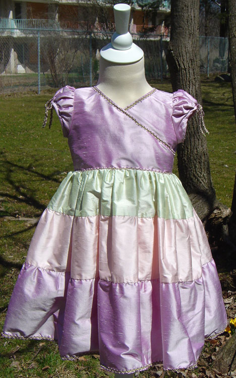 Colourful Flower Girl Dress