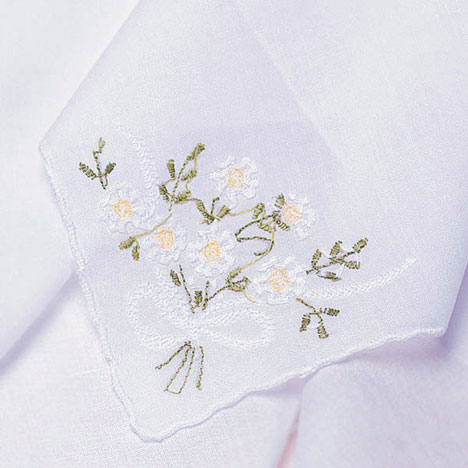 Daisy Wedding Handkerchief