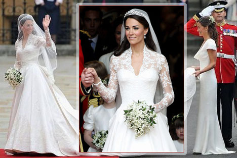 kate middleton and grace kelly wedding dress. Kate Middleton#39;s wedding dress