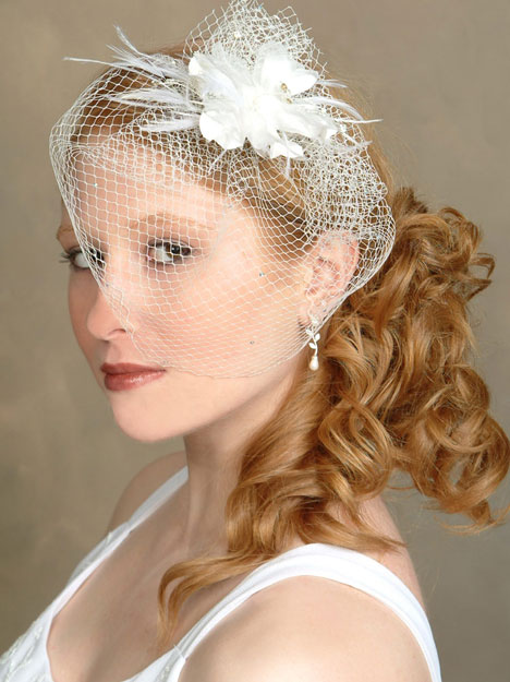 Bridal Fashion Accessories: Birdcage Veil #1