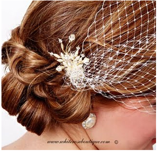Bridal Fashion Accessories: Hair Pin for a Birdcage Veil