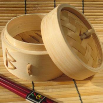 Bamboo dim-sum asian wedding DIY favor container