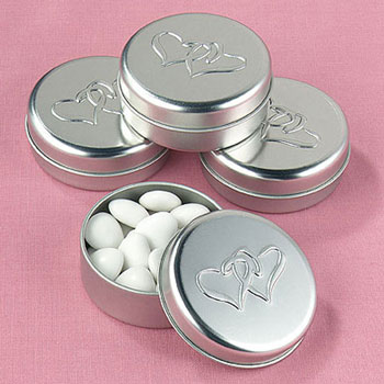 DIY wedding favour tins Linked at the Heart Favour Tins