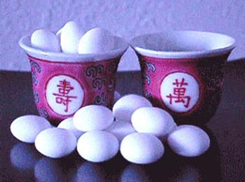 Chinese longevity tea-cups, DIY favour containers