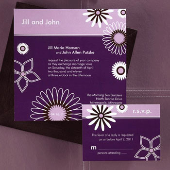 Purple wedding invitation example Something Different Collection