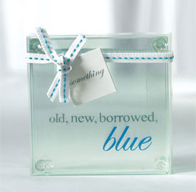 Another glass coaster wedding favour (from WeddingStar)