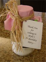 Cookie Jar wedding favour crafts from Kelly's Candy Apples and Gifts