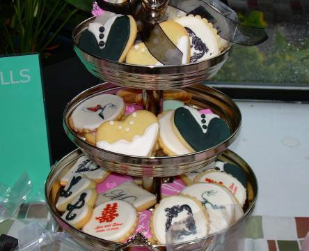 Collection of cookie wedding favours