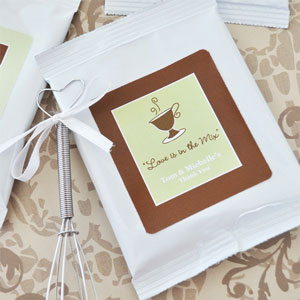 Personalized capuccino mix, as a wedding favour!