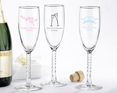 Personalised champaign flutes, for wedding