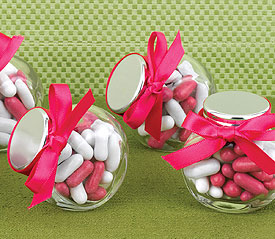 DIY wedding favours: candy jars containers