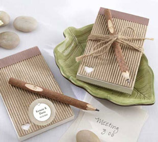 Eco-Friendly Note Pad and Pencil guest favour