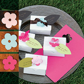 Favor Boxes & Flower Tags