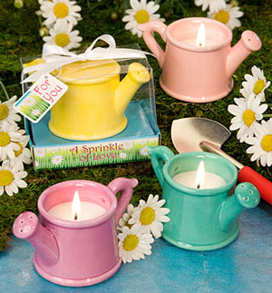 watering can candles wedding favours