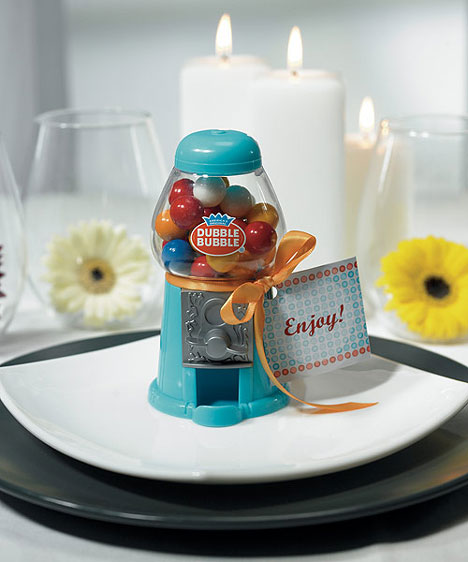gumball machine wedding favor