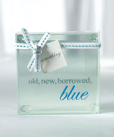 glass wedding favor