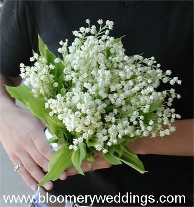 Bride wedding flower guide spring bridal bouquets spring wedding flowers white lily of the valley bridal bouquet mightylinksfo
