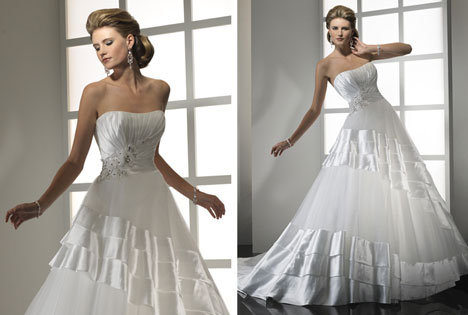Kimberly wedding dress by 2011 Maggie Sotter & Midgley