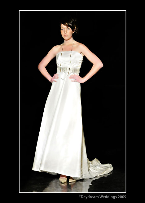Wedding Dress Vancouver Price : Wedding gown demonstrates how accessories such as ropes of beads can
