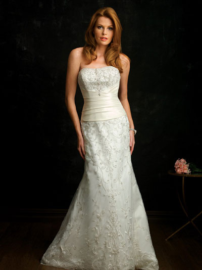 Allure Bridals 2010 bridal gown style 8663