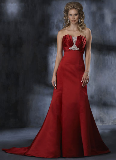 The Halle isn 39t the only red wedding gown in Maggie Sottero 39s collection