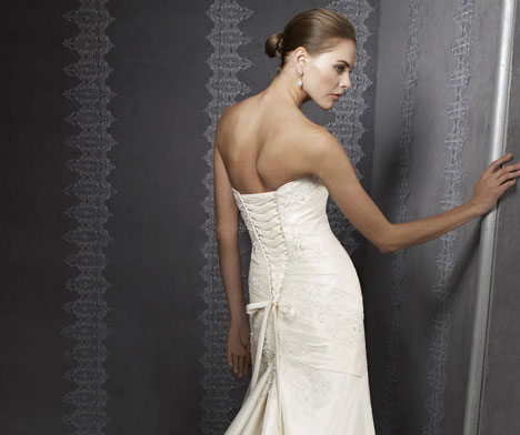 Bridal Gown: Mori Lee Blu #4202 (back)
