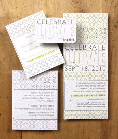 Plantable, green wedding invitation:  Laurel