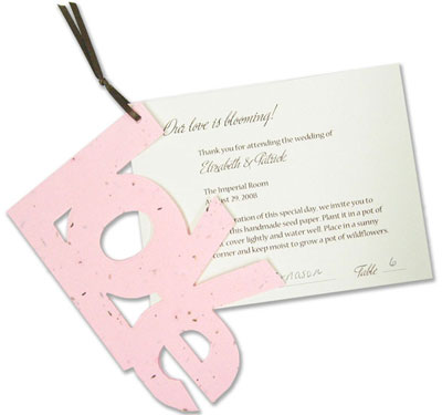 Plantable seed favour & placecard