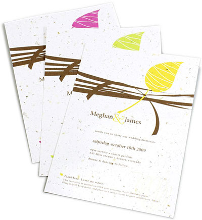 Wedding Invitation Paper on Plantable Everything  Green Wedding Favours  Invitations  Diy Supplies