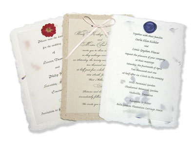 Plantable seed paper wedding invitations