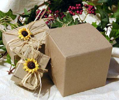eco-friendly, DIY wedding favour boxes