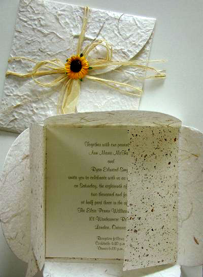 Wedding Invitation Paper on Eco Paper Diy Wedding Invitations