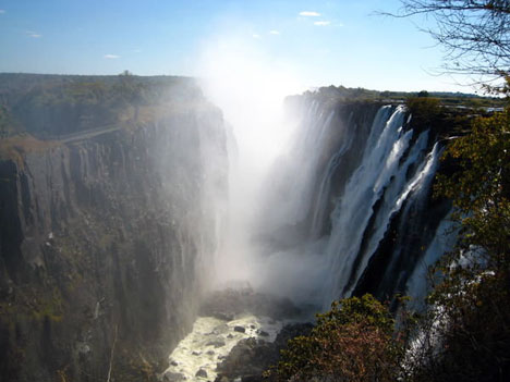 Spectacular Victoria Falls in Zambia