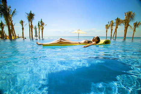 Tropical Honeymoon Destinations: Pool, in Mayan Riviera